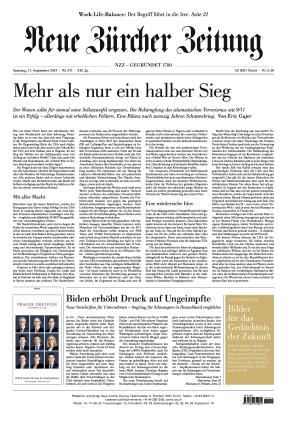 Neue Zürcher Zeitung (11.09.2021)