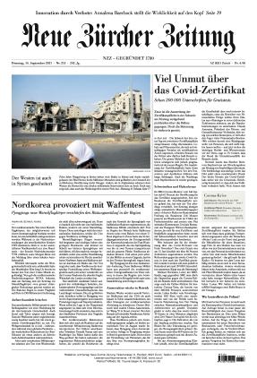 Neue Zürcher Zeitung (14.09.2021)