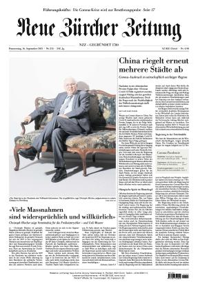 Neue Zürcher Zeitung (16.09.2021)