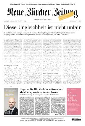 Neue Zürcher Zeitung (18.09.2021)