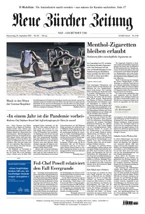 Neue Zürcher Zeitung (23.09.2021)
