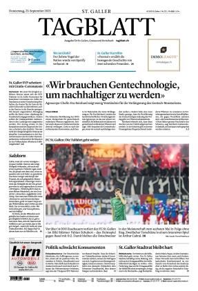 St. Galler Tagblatt (23.09.2021)