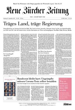 Neue Zürcher Zeitung (25.09.2021)
