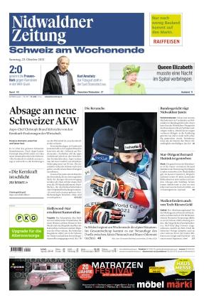 Nidwaldner Zeitung (23.10.2021)