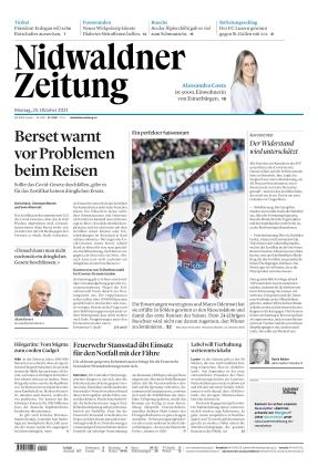 Nidwaldner Zeitung (25.10.2021)