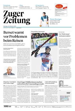 Zuger Zeitung (25.10.2021)