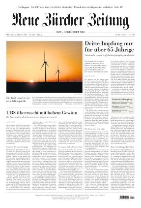 Neue Zürcher Zeitung (27.10.2021)