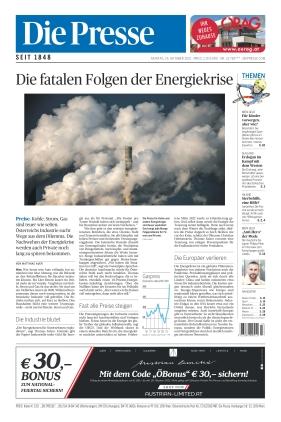 Die Presse (25.10.2021)
