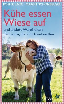Kühe essen Wiese auf