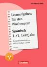 Lernaufgaben für den Wochenplan - Spanisch 1./2. Lernjahr