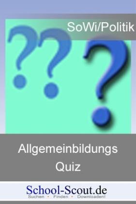 Allgemeinbildungsquiz: Landtagswahl in Bayern vom 28. September 2008