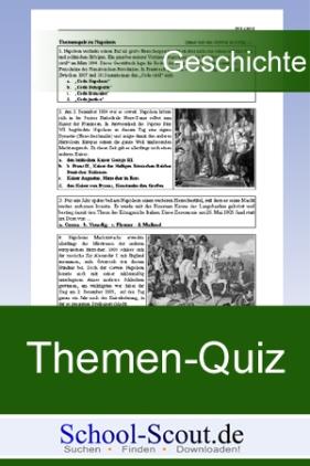Themenquiz (bsd. für Hauptschule und Realschule): Märzrevolution 1848