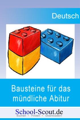 """Bausteine für das mündliche Abitur in Deutsch: Vom Marquis Posa in Schillers """"Don Karlos"""" zu Büchners """"Dantons Tod"""""""