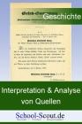 Quelleninterpretation: Vergleichende Interpretation von zwei Quellen zur Politik der Alliierten gegenüber dem besiegten Frankreich