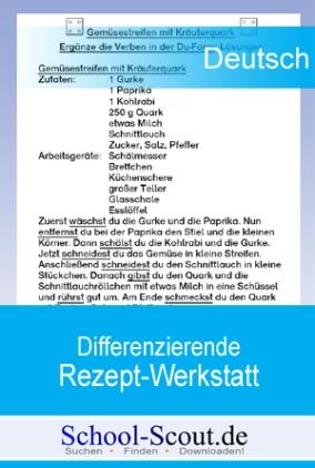 Lernwerkstatt: Differenzierende Rezept-Werkstatt