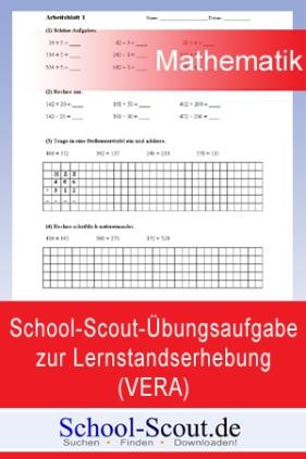 School-Scout-Übungsaufgabe zur Lernstandserhebung (VERA) im Fach Mathematik, Klasse 8. (Teil 1)