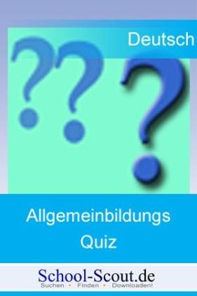 Allgemeinbildungsquiz: Leben und Werk von Günter Grass