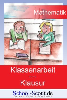Klassenarbeit - Klasse 8 bis 10: Lineare Gleichungssysteme