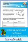 Grammatikwerkstatt mit Einstein der schlauen Schildkröte - Namenwörter