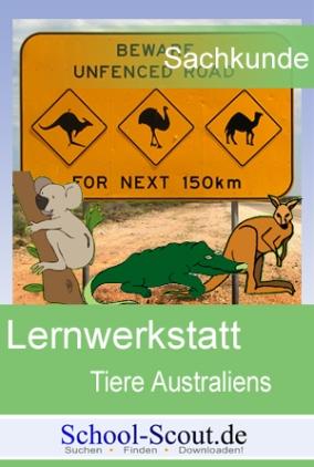 Lernwerkstatt: Tiere Australiens - Das Krokodil