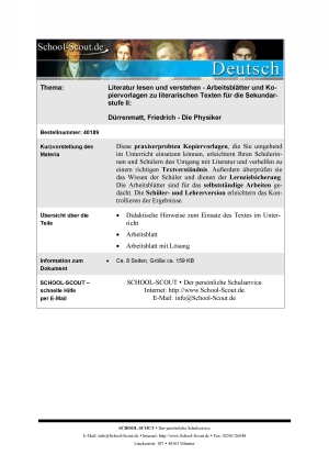 Dürrenmatt, Friedrich - Die Physiker