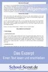 Das Exzerpt - Einen Text lesen und erschließen