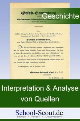 """Quelleninterpretation: Bismarcks """"Eisen-und-Blut-Rede"""" vor dem preußischen Abgeordnetenhaus, 1862"""
