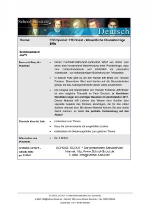 Effi Briest - Wesentliche Charakterzüge Effis