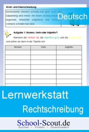 Lernwerkstatt: Rechtschreibung