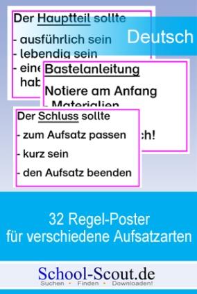 32 Regel-Plakate für verschiedene Aufsatzarten