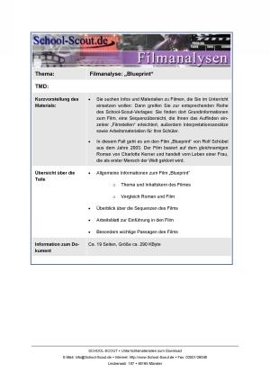 Infos und Materialien zur Filmanalyse: Blueprint