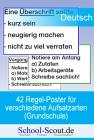 Vergrößerte Darstellung Cover: 42 Regel-Plakate für verschiedene Aufsatzarten (Grundschule). Externe Website (neues Fenster)