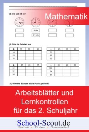 Soforthilfe bei Klassenarbeiten! Arbeitsblätter und Lernkontrollen für das 2. Schuljahr