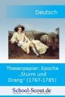 """Vergrößerte Darstellung Cover: School-Scout-Thesenpapier: Epoche """"Sturm und Drang"""" (1767-1785). Externe Website (neues Fenster)"""