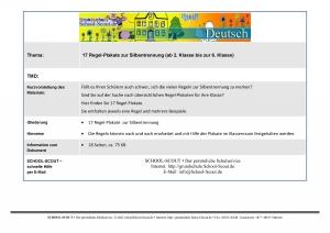 17 Regel-Plakate zur Silbentrennung (ab 2. Klasse bis zur 6. Klasse)