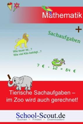 Tierische Sachaufgaben - im Zoo wird auch gerechnet!