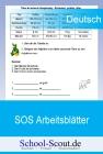 SOS-Arbeitsblätter: Wörter mit dem ks-Laut