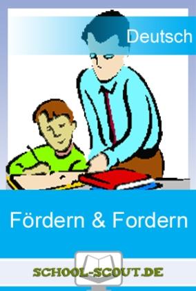 Förder- und Fordermaterial: Inhaltsangabe