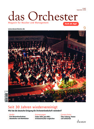 Das Orchester (09/2020)