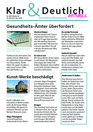 Klar & Deutlich Aktuell 329/2020 (26.10.2020)
