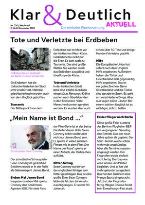 Klar & Deutlich Aktuell 330/2020 (02.11.2020)