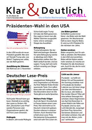 Klar & Deutlich Aktuell 331/2020 (09.11.2020)