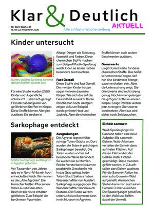 Klar & Deutlich Aktuell 332/2020 (16.11.2020)