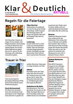 Klar & Deutlich Aktuell 335/2020 (07.12.2020)