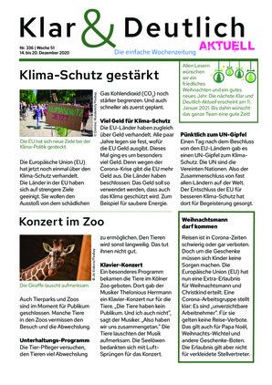 Klar & Deutlich Aktuell 336/2020 (14.12.2020)