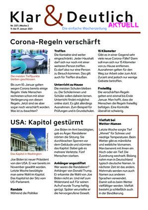 Klar & Deutlich Aktuell 337/2021 (11.01.2021)