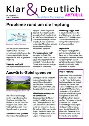 Klar & Deutlich Aktuell 340/2021 (01.02.2021)