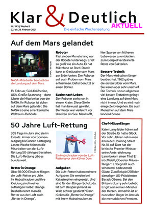 Klar & Deutlich Aktuell 343/2021 (22.02.2021)