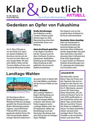 Klar & Deutlich Aktuell 346/2021 (15.03.2021)