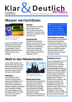 Klar & Deutlich Aktuell 347/2021 (22.03.2021)